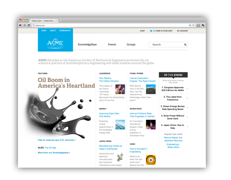 American Society of Mechanical Engineers (ASME) Web Site