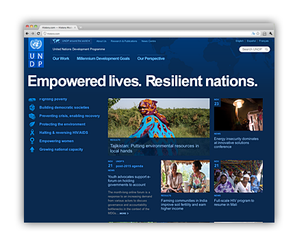 United Nations Development Programme (UNDP) Web Site